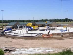 Overall site showing the Lazy River, Slide, Main Pool, Water Toy, and Spray Park