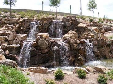 Front view of Rock Water Feature